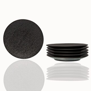 "Matrix Black Bread and Butter Plate 6.25"" SET/6"