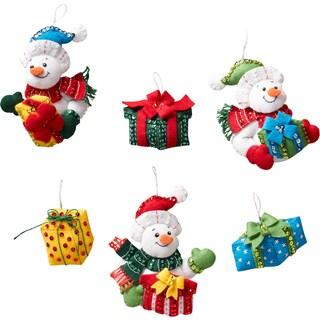"""Bucilla Felt Ornaments Applique Kit 4.5""""X4.5"""" Set of 6"""