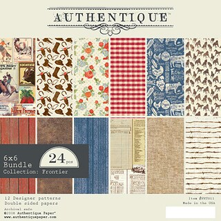 "Authentique Double-Sided Cardstock Pad 6""X6"" 24/Pkg"