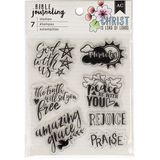 American Crafts Bible Journaling Clear Acrylic Stamps