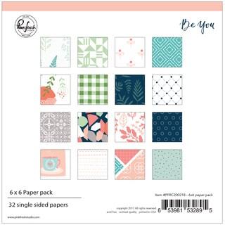 "Pinkfresh Studio Single-Sided Paper Pack 6""X6"" 32/Pkg"