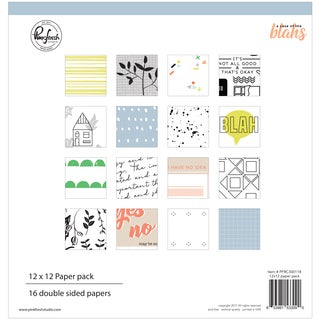 "Pinkfresh Studio Double-Sided Paper Pack 12""X12"" 16/Pkg"