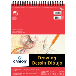"""Canson Foundation Series Spiral Drawing Pad 11""""X14"""""""