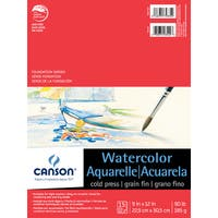"Canson Foundation Series Watercolor Pad 9""X12"""
