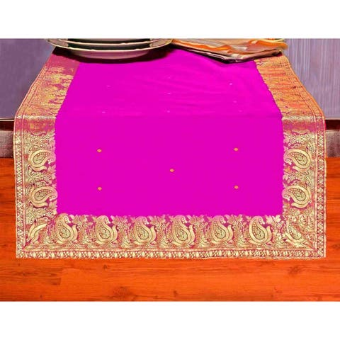 Violet Red - Hand Crafted Table Runner (India)