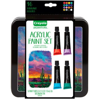 Crayola Signature Acrylic Paint Set W/Tin