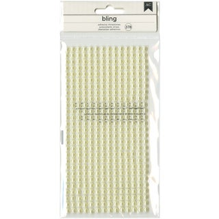 American Crafts Bling Adhesive Pearls 378/Pkg