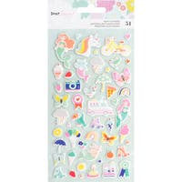 Dear Lizzy Stay Colorful Puffy Stickers