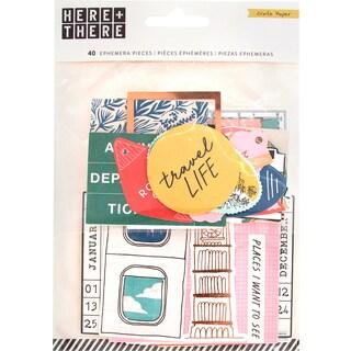 Here & There Ephemera Cardstock Die-Cuts 40/Pkg