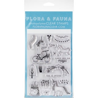 "Flora & Fauna Clear Stamps 4""X6"""