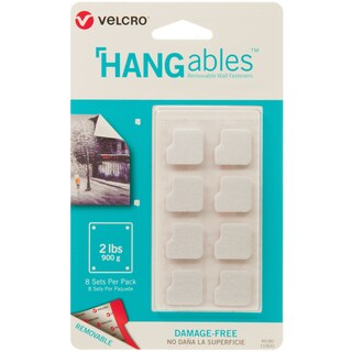 Velcro(R) Brand HANGables Removable Wall Fasteners .75""