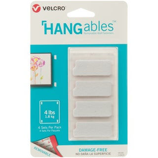 Velcro(R) Brand HANGables Removable Wall Fasteners 1.75X.75""