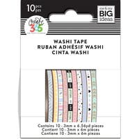 Happy Planner Mini Washi Tape 3mmx6.56yd Each 10/Pkg