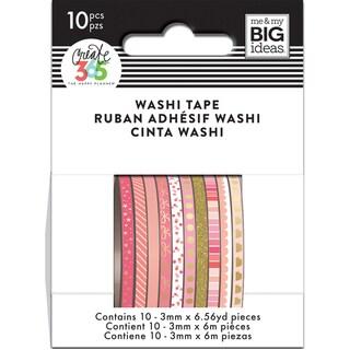 Happy Planner Mini Washi Tape 3mmx6.56yd Each 10/Pkg