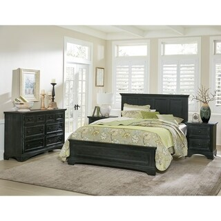INSPIRED by Bassett Farmhouse Basics Queen Bedroom Set with 2 Nightstands and 1 Dresser