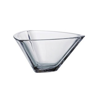 """Majestic Gifts  European High Quality Crystalline Glass Triangle Bowl-7"""""""
