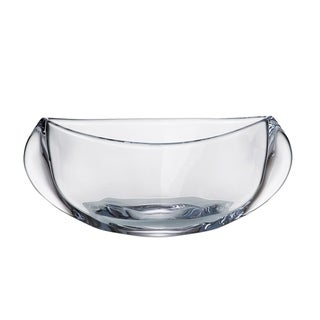 """Majestic Gifts  European High Quality Crystalline Glass Bowl-12"""" Long"""