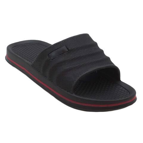 341bdb75b2cf Buy Slide Men s Sandals Online at Overstock