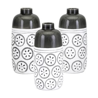 Brooke White and Black Vase (Set of 3)