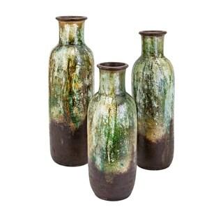 Isabella Green and Bronze Vase (Set of 3)