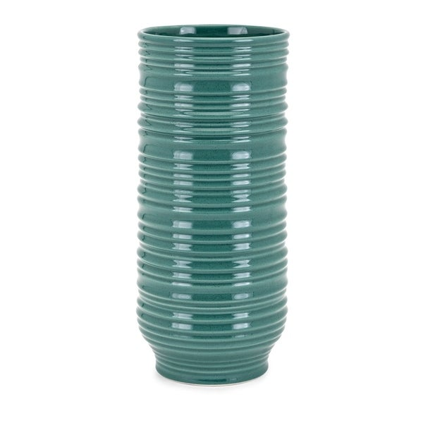 Shop Aria Teal Large Vase Free Shipping On Orders Over 45