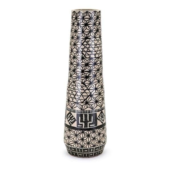 Calista Black and Cream Vase
