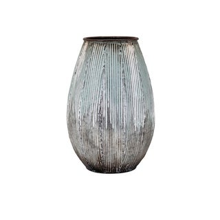 Robinson Blue and Grey Small Metal Vase