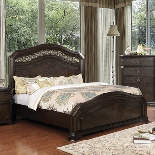 Furniture of America Riley I Traditional Espresso Camelback Panel Bed