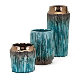 Brenton Teal Vase (Set of 3)