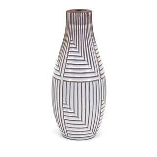 Ella White and Brown Large Vase