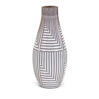Ella White and Brown Large Vase