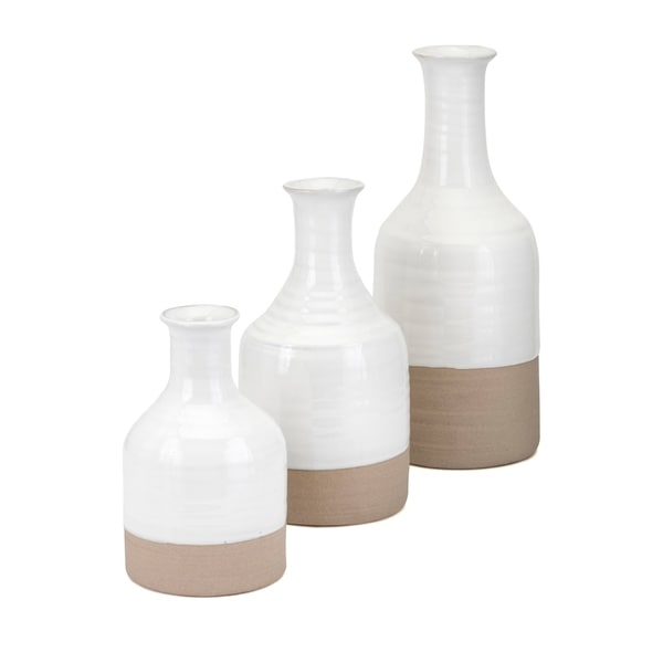 Athena White Vase (Set of 3)