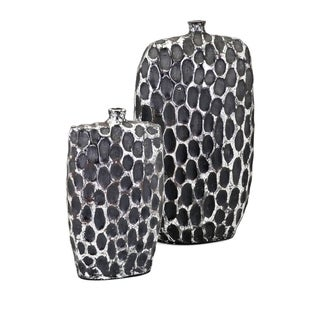 Rosa Black and Silver Vase (Set of 2)