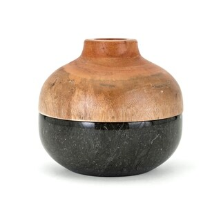 Lucas Brown and Grey Short Lidded Vase
