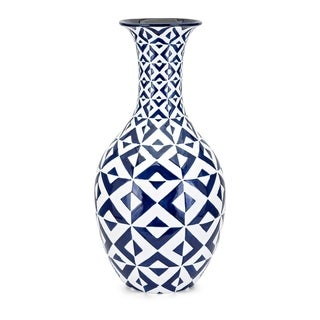 Bindi Blue and White Floor Vase
