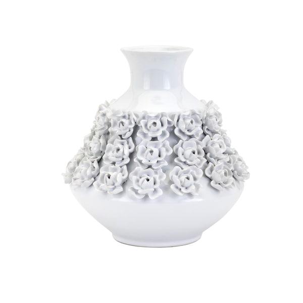 Bella White Small Vase