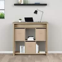 Avenue Greene Oakmont Brown Oak Standing Desk