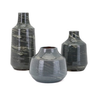 Stuart Green and Grey Vase (Set of 3)