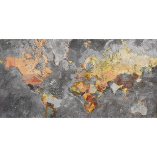 Renwil Colorful World Rectangular Canvas Wall Art - gray/Orange/YELLOW