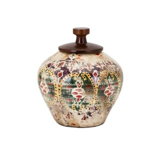 Kelis Multi-color Small Lidded Vase