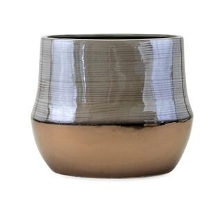Nabila Grey and Bronze Short Vase