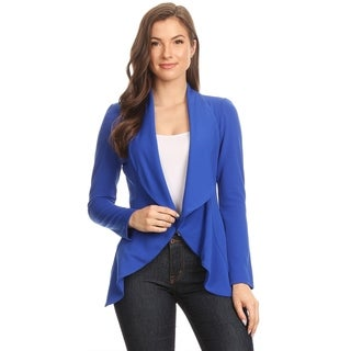 Women's Solid Color Draped Cardigan