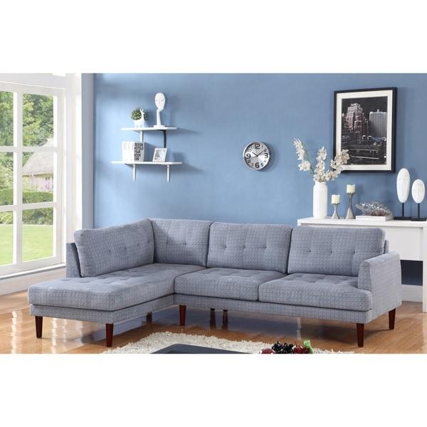 Black Large Sectional Sofa Under 900: Shop Star Home Blue/ Grey Upholstered Living Room
