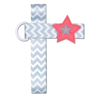 NoThrow Bottle Tether - Coral Star - Pink