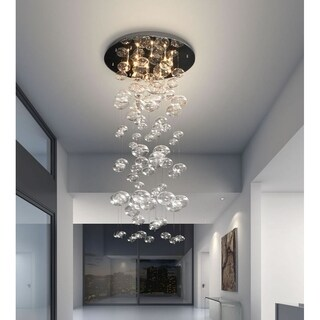 Pyper Marketing Wally's Glass and Stainless Steel 10-light Chandelier