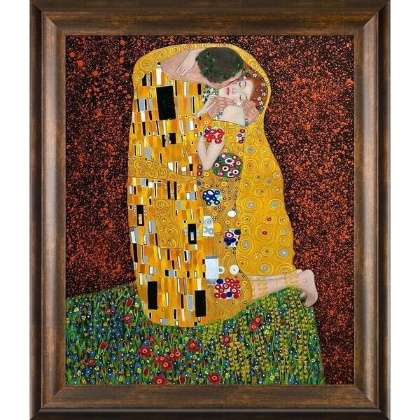 Gustav Klimt 'The Kiss' (Full view) Hand Painted Oil Reproduction