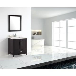 Modern Freestanding Espresso Bathroom Vanity with Quartz Top