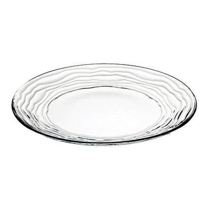 """Majestic Gifts European High Quality Glass Dinner Plates- 11"""" Diameter- S/6"""
