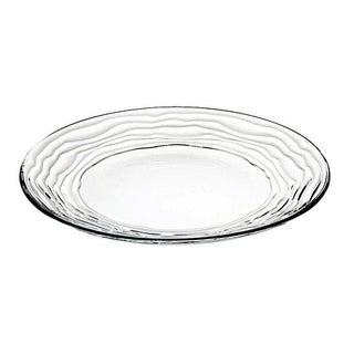 "Majestic Gifts European High Quality Glass Dinner Plates- 11"" Diameter- S/6"