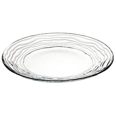"Majestic Gifts European High Quality Glass Salad/ Dessert Plates- 8"" Diameter- S/6"